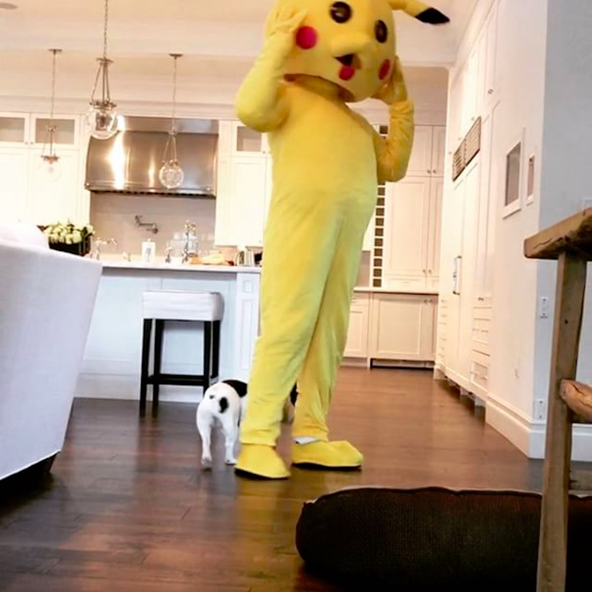 Dwayne-Johnson-Dresses-Up-Pikachu-Daughter-Easter